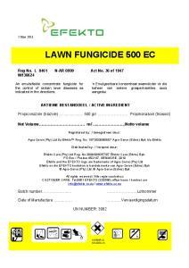 LAWN FUNGICIDE 500 EC