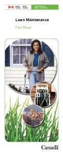 Lawn Maintenance. Fact Sheet
