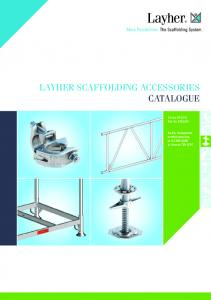LAYHER SCAFFOLDING ACCESSORIES CATALOGUE