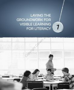 LAYING THE GROUNDWORK FOR VISIBLE LEARNING FOR LITERACY