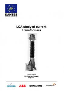 LCA study of current transformers