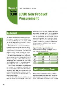 LCBO New Product Procurement