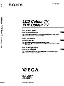 LCD Colour TV PDP Colour TV