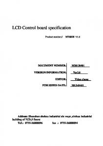 LCD Control board specification