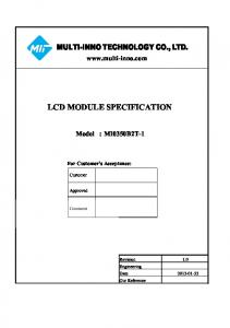 LCD MODULE SPECIFICATION
