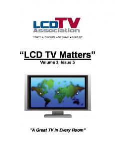 LCD TV Matters Volume 3, Issue 3