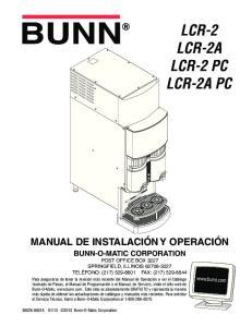 LCR-2 LCR-2A LCR-2 PC LCR-2A PC