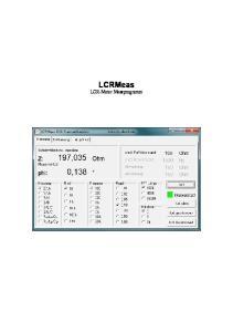 LCRMeas LCR-Meter Messprogramm