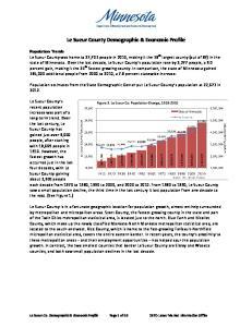 Le Sueur County Demographic & Economic Profile