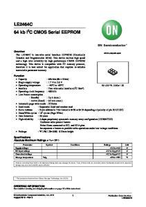 LE2464C 64 kb I 2 C CMOS Serial EEPROM
