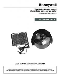 LEA Y GUARDE ESTAS INSTRUCCIONES