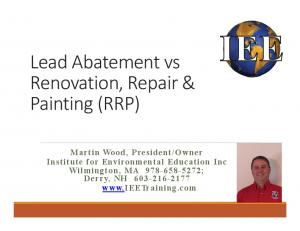 Lead Abatement vs Renovation, Repair & Painting (RRP)