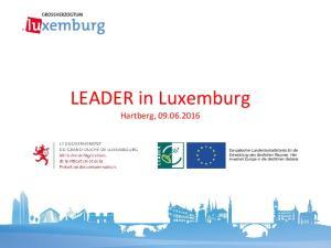 LEADER in Luxemburg Hartberg,
