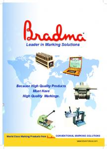 Leader in Marking Solutions