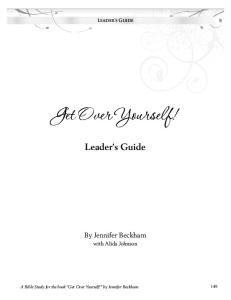Leader s Guide Leader s Guide
