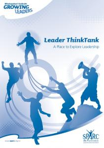 Leader ThinkTank A Place to Explore Leadership