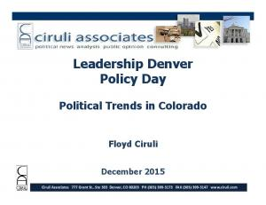 Leadership Denver Policy Day