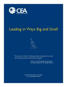 Leading in Ways Big and Small