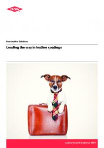 Leading the way in leather coatings