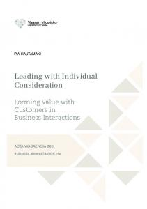 Leading with Individual Consideration