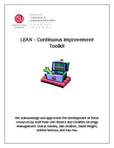 LEAN Continuous Improvement Toolkit