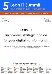 Lean IT: an obvious strategic choice for your digital transformation