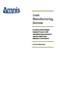 Lean Manufacturing Review