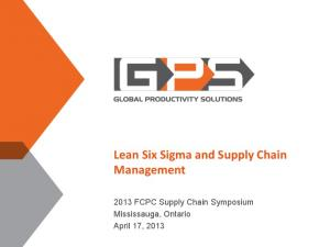 Lean Six Sigma and Supply Chain Management