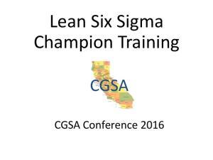 Lean Six Sigma Champion Training
