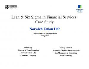 Lean & Six Sigma in Financial Services: Case Study