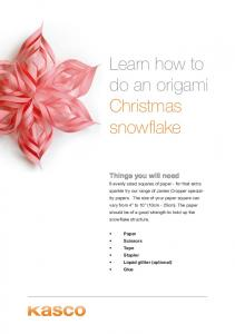 Learn how to do an origami Christmas snowflake