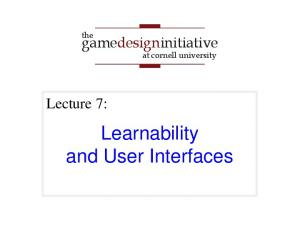 Learnability and User Interfaces