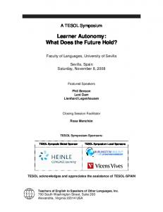 Learner Autonomy: What Does the Future Hold?