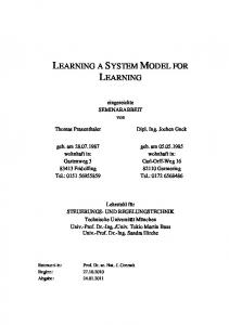 LEARNING A SYSTEM MODEL FOR LEARNING