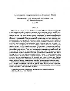 Learning and Disagreement in an Uncertain World