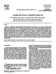 Learning and memory in agmatine-treated rats