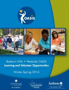 Learning and Volunteer Opportunities