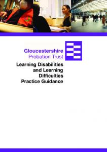 Learning Disabilities and Learning Difficulties Practice Guidance