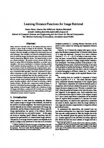 Learning Distance Functions for Image Retrieval