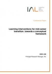 Learning interventions for mid-career transition: towards a conceptual framework