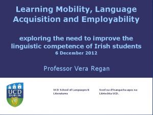 Learning Mobility, Language Acquisition and Employability