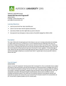 Learning Objectives. Description