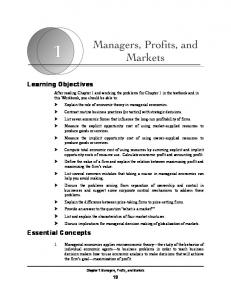 Learning Objectives. Essential Concepts