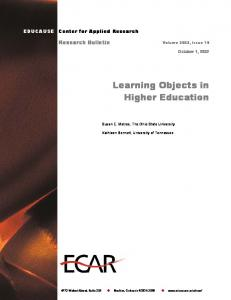 Learning Objects in Higher Education