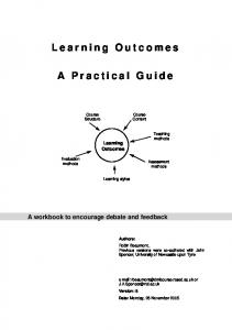Learning Outcomes. A Practical Guide