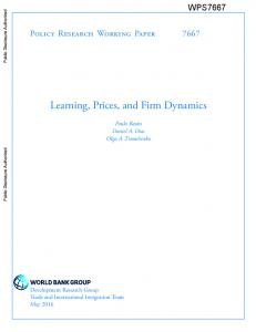 Learning, Prices, and Firm Dynamics