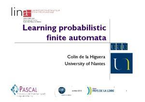 Learning probabilistic finite automata
