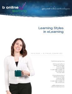 Learning Styles in elearning