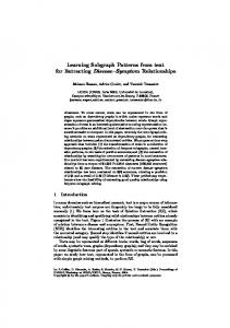 Learning Subgraph Patterns from text for Extracting Disease Symptom Relationships