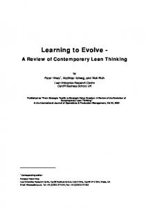 Learning to Evolve -